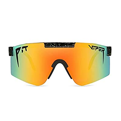 Original Pit Viper Sports Sunglasses,Protection Cycling Glasses,UV400 for Cycling, Baseball,Fishing, Ski Running,Golf, Polarized Cycling Sunglasses Full Screen TR90 for Men Women (C19)