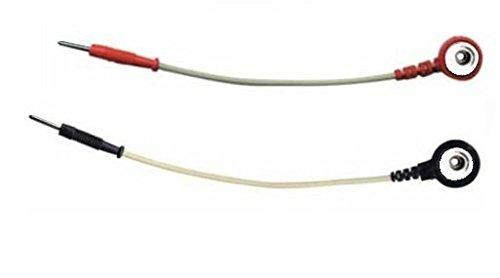 Coppia Adattatore per elettrodi elettrostimolatore da clip snap 4 mm a spinotto pin maschio 2 mm
