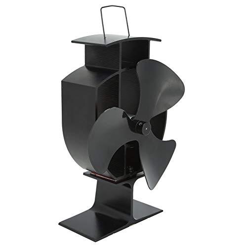 Yyqtgg Ventilador de Chimenea Resistente, 12 x 6,5 cm Estufa de Madera Fábrica de Chimenea Estufa de Calor de Acero