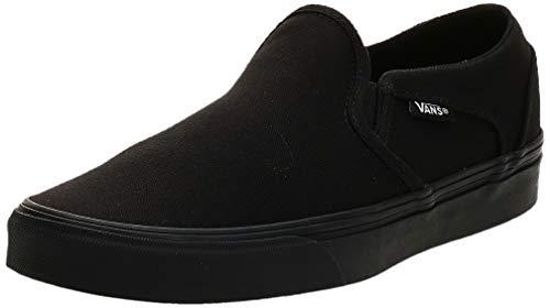 Vans Damen Asher Sneaker, Schwarz ((Canvas) Black/Black 186), 40.5 EU