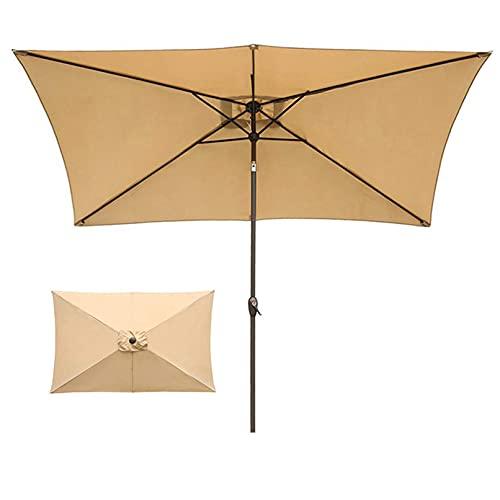 MLL La sombrilla de jardín con manivela se Puede Doblar a 30 ° Parasol Rectangular para Exteriores Adecuado para Exteriores, Jardines y Patios