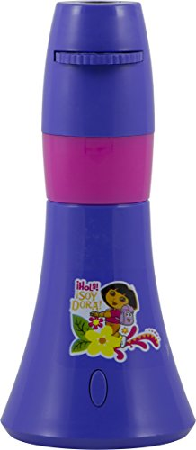 Nickelodeon Projectables Dora The Explorer LED Battery-Operated Night Light, Six-Image, 11378, Six Different Dora The Explorer Images Project onto Wall or Ceiling