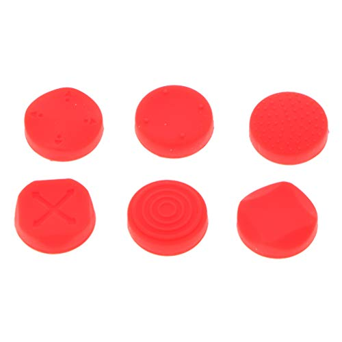 Almencla 6x tampa analógica para polegares Nintendo Switch Pokeball Plus vermelha