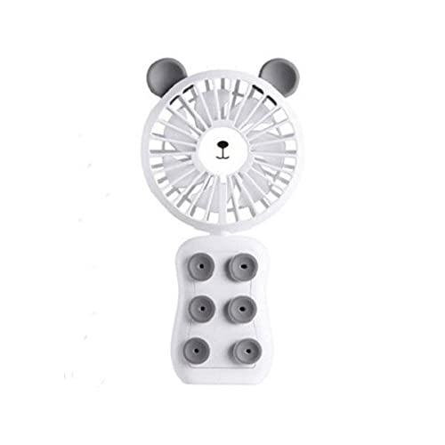 Mini Ventilador Mini Ventilador De Hormigón De Mano Ventilador De Escritorio USB 2 Velocidad Del Viento Del Aire De Enfriamiento Adecuado Para Viajes Al Aire Libre (Size:78 X 28 X 57mm; Color:White)