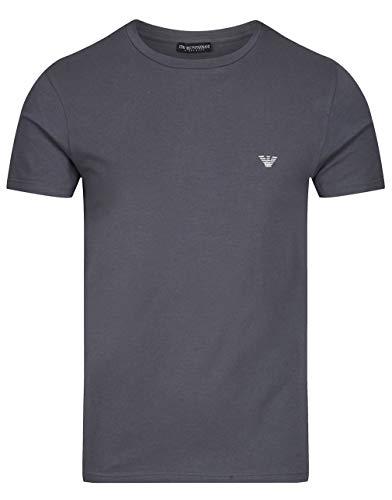Emporio Armani - Maglietta a maniche corte elasticizzata - Nero - L