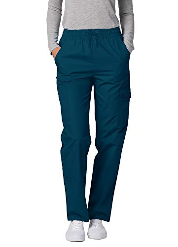 Adar Universal Damen Pflegebekleidung - lockere Cargo Hose - 506 - Caribbean Blue - M