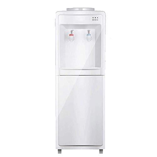 HKX Dispensador de agua de 5 galones, dispensador de agua independiente de carga superior con gabinete de almacenamiento, dos ajustes de temperatura-caliente (85 ℃-95 ℃), temperatura normal (10-15 ℃)