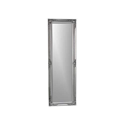 Melody Maison - Specchio ornamentale a tutta lunghezza, 168 x 54 cm, colore: Argento
