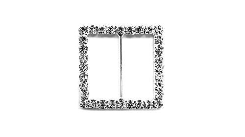 Trimming Shop Strass Vierkant Kristal Diamanten Gesp Slider Versiering voor Vrouwen Handtas, linten, Bruiloft Kaarten, Mode Accessoires