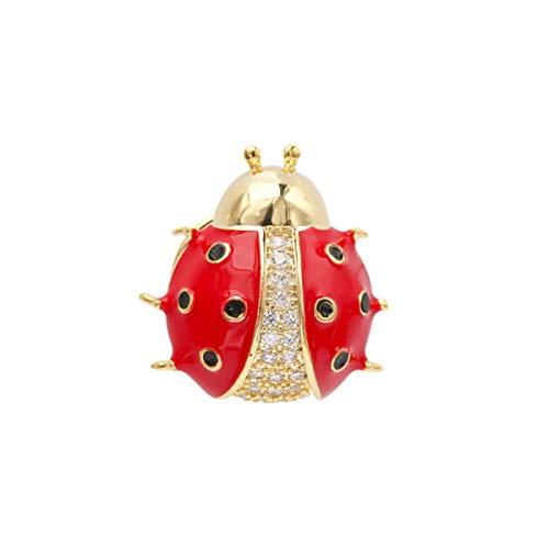Happyyami 1 Unid Broche Adorable Mariquita Delicada Exquisita Hermosa Ramillete Broche Ropa Pin Pecho para Niña Dama Mujer