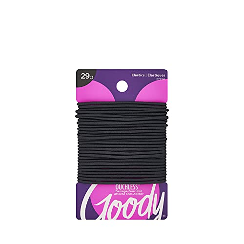 Goody Women's Ouchless 2 mm Elastics, Black, 29 Count