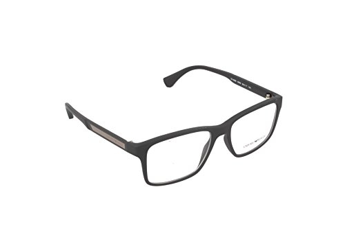 Armani Giorgio 0EA 3055 5063 53 Gafas de sol, Negro (Black Marron Rubber), Unisex Adulto