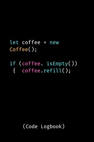 Let coffee new Coffee Coding logbook: 120 Blank lined pages | Coding journal | Gift for coders
