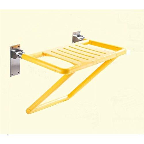 DWLXSH Dusche Bank-Sitz Folding Dusche Badewanne Sitz Bad, Spezialisiert auf Hilfe for die älteren Schwangere Frauen und Behinderte Take The Dusche Einbauhöhe von 46-48cm (Color : Yellow)