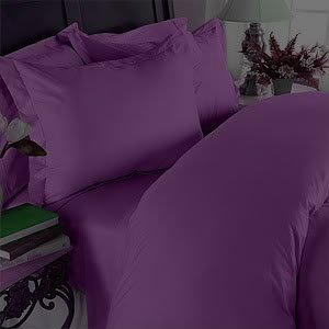 1200 Series TWIN Size Microfiber 3pc Bed Sheet Set, Deep Pocket, DARK PURPLE