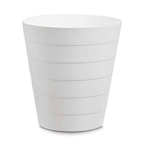 Zeller 18107 Abfalleimer, 13,5 L, Kunststoff, Plastik, weiß, 29 x 29 x 30 cm