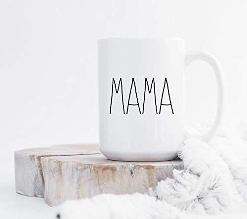 15 Oz Koffie Mok, Mama Mok Moederschap Mok Mok Mok Mok met Zeggen Minimalistische Mok Mok Mama Koffie Mok Mama Koffie Cup Vaatwasser Veilig Moeder Leven Koffie Mokken voor Moeder, Thee Cup