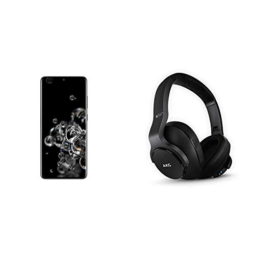 Samsung Galaxy S20 Ultra 5G Factory Unlocked New Android Cell Phone US Version, 128GB, Cosmic Black and N700NC M2 Over-Ear Foldable Wireless Headphones, Black