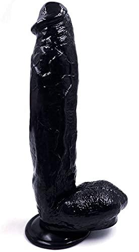 Reạlịstic Ðịdlọ 12 Inch D'îldɔ for Sẹx Women for Women Black and Flesh Color Ðịdlọ