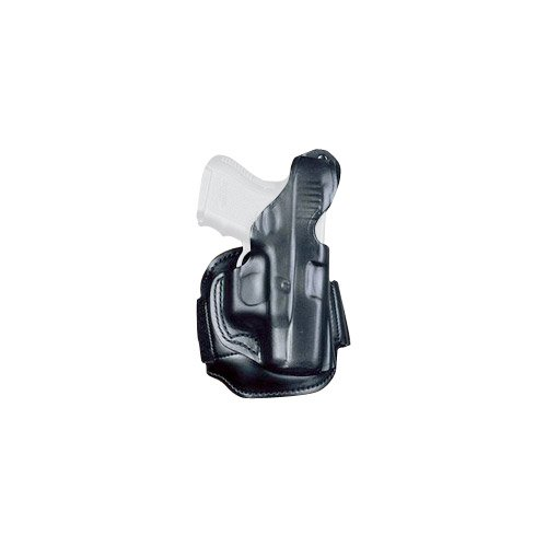DeSantis S&W J 332, 340, 342 Leather Ankle Holster-Style 044, Right Hand, Black