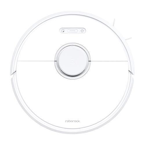 Roborock S6 Saug- und Wischroboter (Saugleistung 2000Pa, 180min Akkulaufzeit, 480ml Staubbehälter, 140ml Wassertank, 67db Lautstärke, Adaptiver Routenalgorithmus, App- und Sprachsteuerung) Weiß