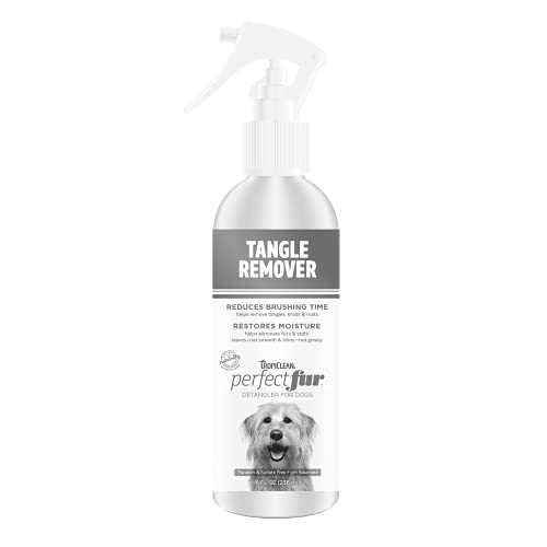 TropiClean Perfect FurDetangler Spray for Dogs - Made in USA - Detangling &...