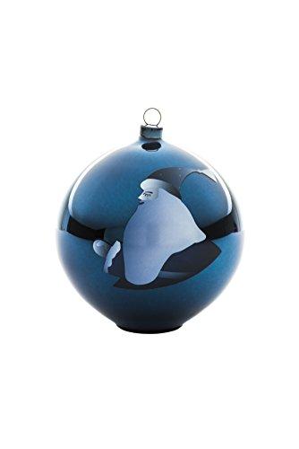 Alessi AAA07 4 Blue Christmas Weihnachtsschmuck - mundgeblasenes Glas, blau.