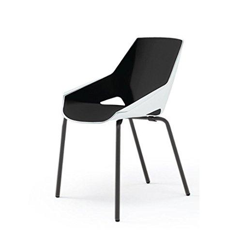 ミーティングチェア ACTIU DI Chair 本体色:脚ブラック×ブラック KAZ-211-T00G10