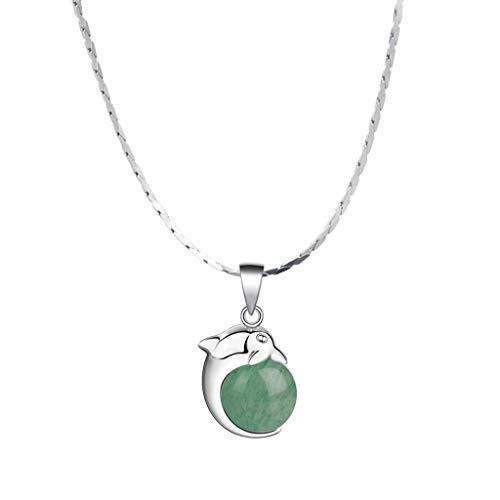 YIXIN2013SHOP Collar Colgante Dongling Jade Collar Femenino clavícula Collar de Cadena de joyería 18inchs Colgantes for Las Mujeres Collar Joyería de Moda