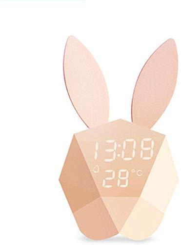 LYQ Creative schattig alarm, muziek, sluimerfunctie, nachtlampje voor kinderen, zacht alarm, slaapkamer, studeerkamer, mooie wandlamp