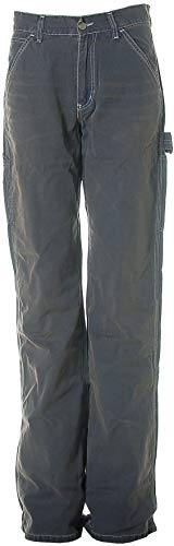 Take Two Damen Jeans Cargo Hose Boot Cut Vintage W30 L36 Dark Blue Trucky