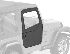 Bestop Lower Fabric Half Door Set Black Denim for Jeep CJ7//Wrangler 1980-1995