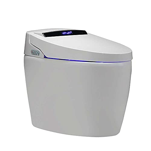 Weibath Modern Smart One-Piece 1.27 GPF Floor Mounted Elongated Toilet and Bidet with Seat (Automatic)
