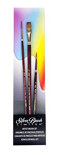 Silver Brush Tom Lynch Deluxe Starter Set di pennelli, legno,, Set da 3