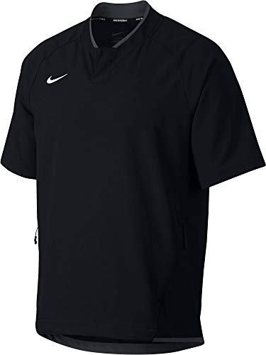 Nike Men's Hot Baseball Practice Jacket (Black/Medium)