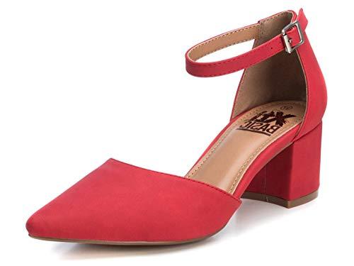 XTI Zapato Salón BAS034244 para Mujer Rojo 38