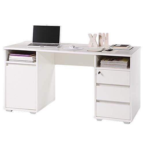 Schreibtisch Mila weiß B 145 cm Jugendzimmer Kinderzimmer PC Computertisch Kinder...
