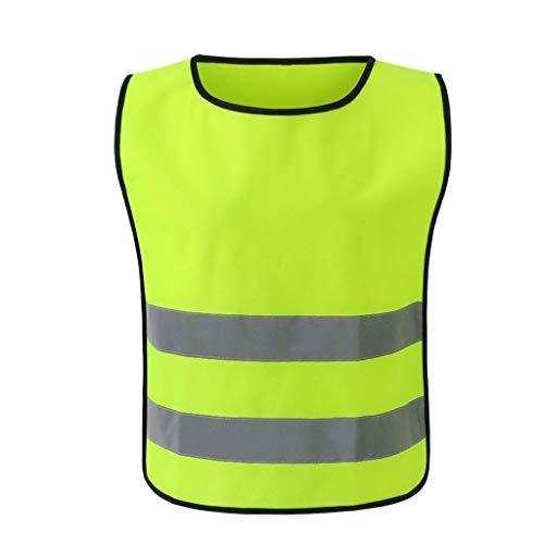 Warnweste Arbeitskleidung Kind Student Kid Bietet Hohe Sichtbarkeit Tag Nacht Laufen Zyklus Verkehrswarnung Kindersicherheitsweste (Größe : M)