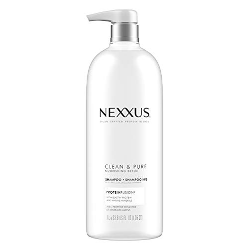 Nexxus Clean and Pure Clarifying Shampoo, For Nourished Hair With ProteinFusion, Silicone, Dye And Paraben Free 33.8 oz