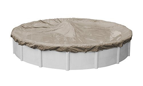 Pool Mate 5724-4 Sandstone Winter Pool Cover for Round Above Ground Swimming Pools, 24-ft. Round...