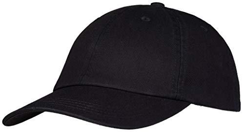 Pembroke® Dad Cap, Hat, Classic Sports Cap, Baseball Cap, 100% Baumwolle, Damen und Herren, Schwarz, Einstellbar