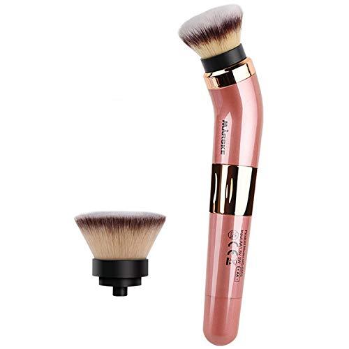 Pinceau de maquillage électrique à piles à rotation de 360 degrés avec têtes de brosse de rechange 2PCS pour femmes, filles, usage domestique