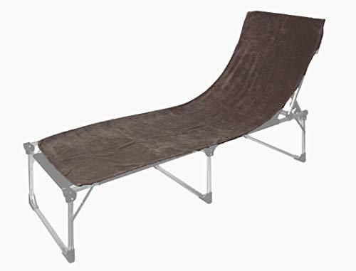 Floringo 2er Pack Schonbezug für Sonnenliege Gartenliege 70x200 Twin-Star 95° waschbar (elefantengrau)