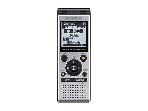 Olympus WS-852 hochwertiges digitales Sprachaufnahmegerät mit Stereomikrofonen, 7 Szenen, Kalendersuche, Direkt-USB, Sprachfilter, Low-Cut Filter, Rauschunterdrückung, eingebautem Ständer und 4 GB