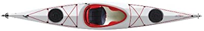 121 Tahe Marine Kayak Distribution Fit Composite White/Red 12.92ft Sit-In Flatwater Day Touring Kayak