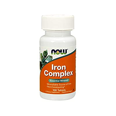 NOW Supplements, Iron Complex, Non-Constipating*, Essential Mineral, 100 Tablets