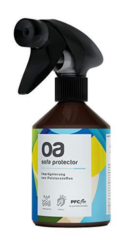 OA Sofa Protector Imprägnierspray (250ml) - 100% PFC frei und vegan - Wirksame Imprägnierung für Textil und Polster - Imprägnierung für Sofa, Imprägniermittel für Textilien - Nano Spray