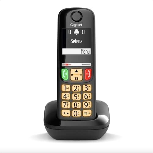 Gigaset E275 Il nuovo telefono cordless dai tasti grandi, numeri grandi e suonerie forti. Nero, Italia
