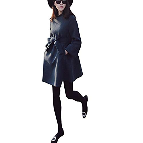 [ Smaids x Smile (スマイズ スマイル) ] アウター コート ウエスト リボン フリル 長袖 ワンピース 無地 プリント ボーイッシュ コットン イベント かわいい プリント モヘア スポーティー プレゼント ボタン Vネック ボーイッシュ アウター おしゃれ インナー チェック デート ロック 冬 ビジネス Tシャツ アーガイル ダンディ レディース (XL, ブラック)