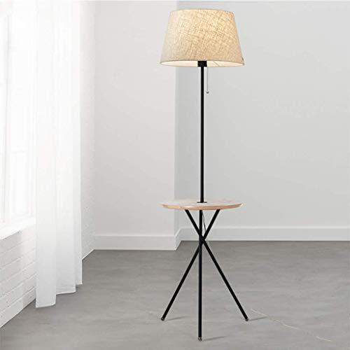 Woonkamerlamp slaapkamerlamp salontafel met tafelblad Amerikaanse hanglamp massief hout W12/31 (kleur: beige + hout, maat: zonder USB), maat: met USB, kleur: beige + n